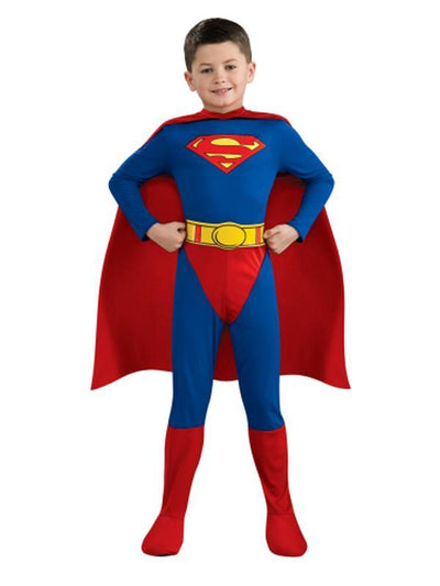 Superman Child - Size M-Costumes - Boys-Jokers Costume Hire and Sales Mega Store