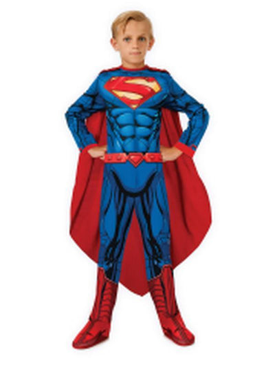 Superman Classic - Size M.-Costumes - Boys-Jokers Costume Hire and Sales Mega Store
