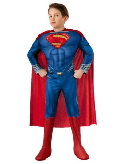 Superman Deluxe Light Up Costume - Size M-Costumes - Boys-Jokers Costume Hire and Sales Mega Store