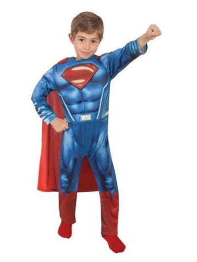 Superman Doj Deluxe - Size 3-5.-Costumes - Boys-Jokers Costume Hire and Sales Mega Store