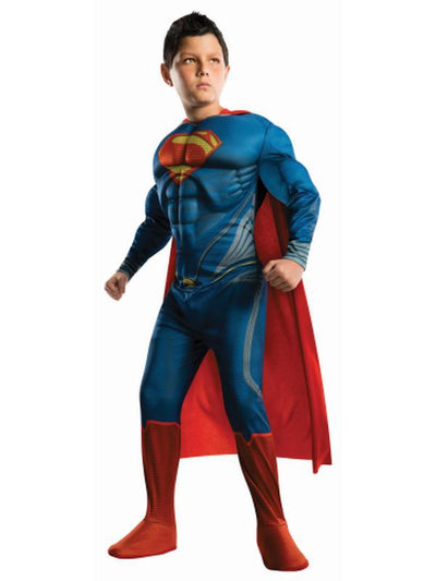 Superman Man Of Steel - Size S-Costumes - Boys-Jokers Costume Hire and Sales Mega Store
