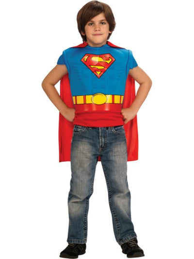 Superman Muscle Chest Costume Top - Size M-Costumes - Boys-Jokers Costume Hire and Sales Mega Store