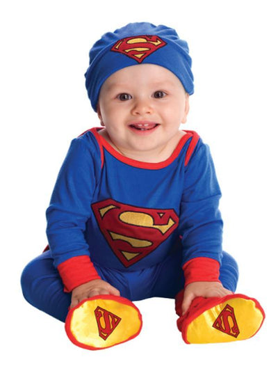 Superman Onesie - Size 0-6 Months-Costumes - Boys-Jokers Costume Hire and Sales Mega Store