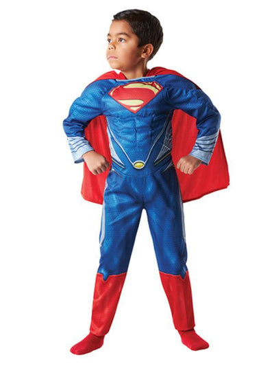Superman Padded Chest - Size M-Costumes - Boys-Jokers Costume Hire and Sales Mega Store