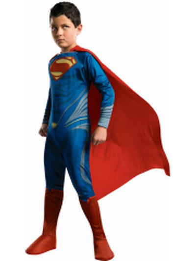Superman - Size L-Costumes - Boys-Jokers Costume Hire and Sales Mega Store