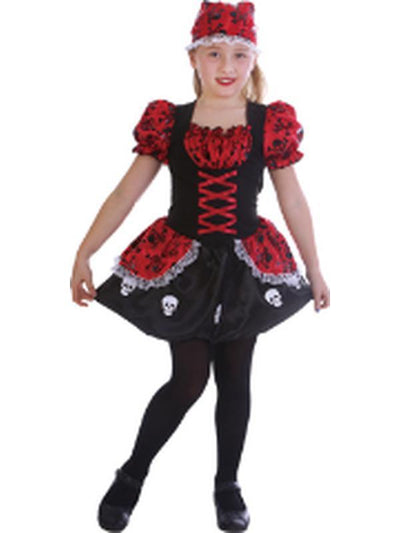 Sweet Skeleton Pirate - Child - Large-Costumes - Girls-Jokers Costume Hire and Sales Mega Store