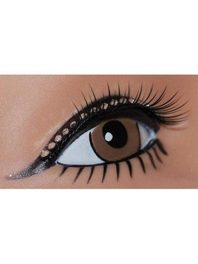Tapered Lashes w/Diamonte Lid Line-Eyewear-Jokers Costume Hire and Sales Mega Store