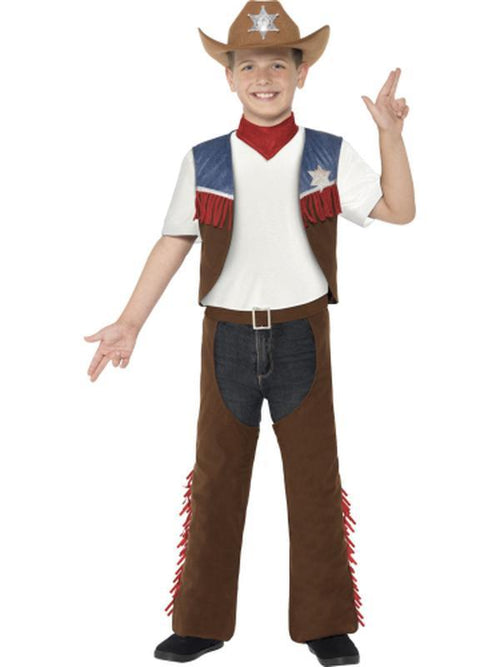 Texan Cowboy Costume-Costumes - Boys-Jokers Costume Hire and Sales Mega Store