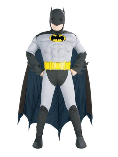 The Batman Deluxe Costume - Size M-Costumes - Boys-Jokers Costume Hire and Sales Mega Store