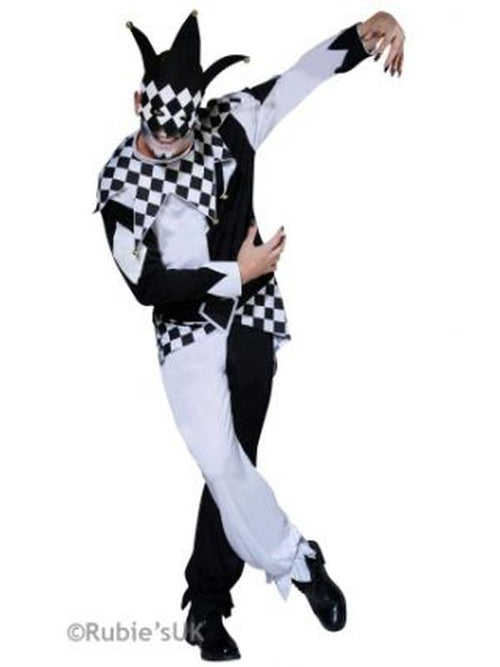 The Dark Jester Costume - Size Std-Costumes - Mens-Jokers Costume Hire and Sales Mega Store