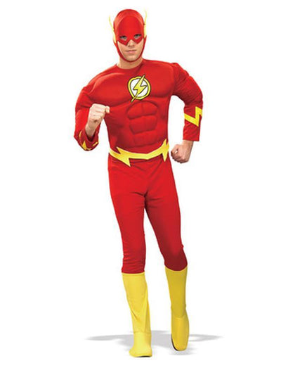 The Flash Adult M/C - Size M-Costumes - Mens-Jokers Costume Hire and Sales Mega Store