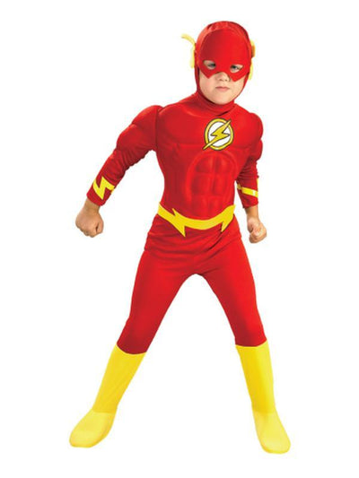 The Flash Deluxe Muscle Chest Child - Size S.-Costumes - Boys-Jokers Costume Hire and Sales Mega Store
