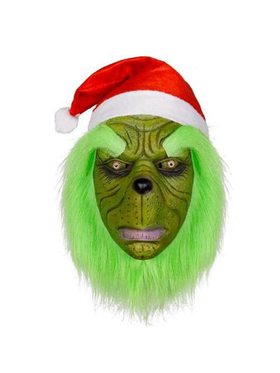 The Grinch Latex Head Mask and Hat-Masks - Latex-Jokers Costume Mega Store