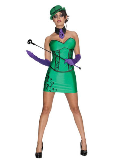 The Riddler Super Villian Secret Wishes - Size M-Costumes - Women-Jokers Costume Hire and Sales Mega Store