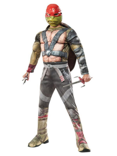 Tmnt 2 Raphael Deluxe - Size 3-5-Costumes - Boys-Jokers Costume Hire and Sales Mega Store