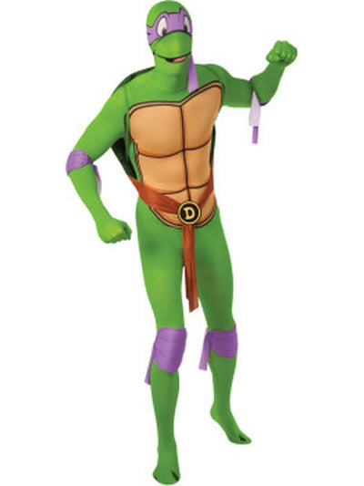 Tmnt Donatello 2Nd Skin Suit - Size L-Costumes - Mens-Jokers Costume Hire and Sales Mega Store