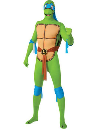 Tmnt Leonardo 2Nd Skin Suit - Size L-Costumes - Mens-Jokers Costume Hire and Sales Mega Store