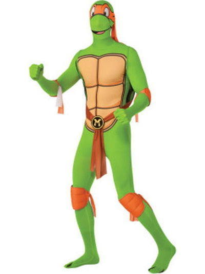 Tmnt Michelangelo 2Nd Skin Suit - Size L-Costumes - Mens-Jokers Costume Hire and Sales Mega Store