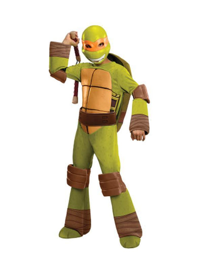 Tmnt Michelangelo Deluxe - Size 3-5-Costumes - Boys-Jokers Costume Hire and Sales Mega Store