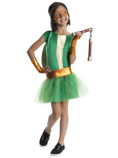 Tmnt Michelangelo Deluxe Tutu - Size M-Costumes - Girls-Jokers Costume Hire and Sales Mega Store