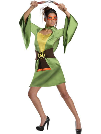 Tmnt Michelangelo Female Kimono - Size Xs-Costumes - Women-Jokers Costume Hire and Sales Mega Store