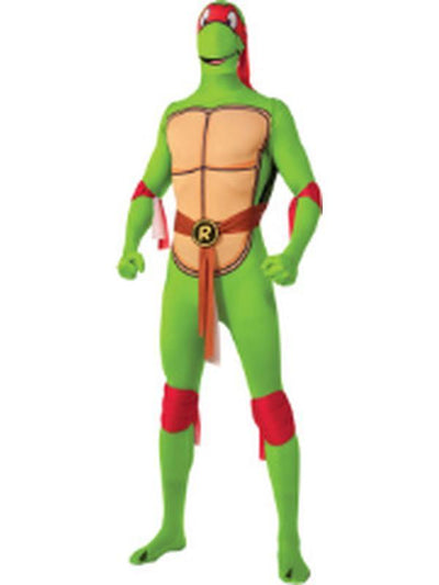 Tmnt Raphael 2Nd Skin Suit - Size M-Costumes - Mens-Jokers Costume Hire and Sales Mega Store