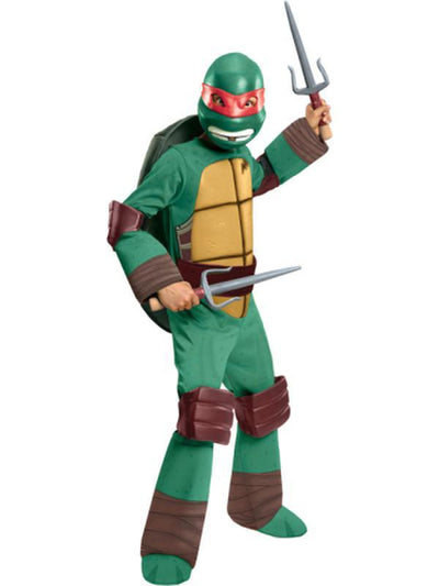 Tmnt Raphael Deluxe - Size S-Costumes - Boys-Jokers Costume Hire and Sales Mega Store