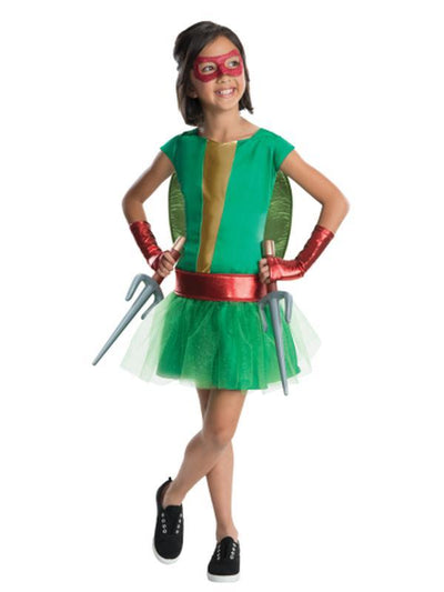 Tmnt Raphael Deluxe Tutu - Size L-Costumes - Girls-Jokers Costume Hire and Sales Mega Store