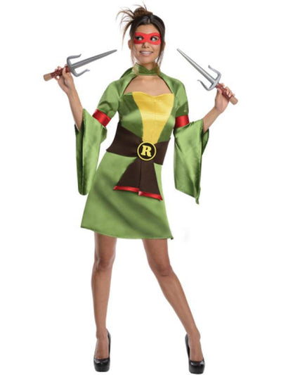 Tmnt Raphael Female Kimono - Size S-Costumes - Women-Jokers Costume Hire and Sales Mega Store