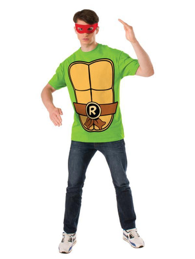 Tmnt Raphael Mens Tee - Size M-Costumes - Mens-Jokers Costume Hire and Sales Mega Store