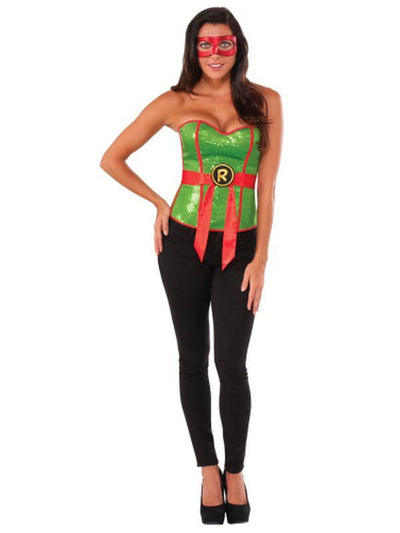 Tmnt Raphael Sequin Corset - Size S-Costumes - Women-Jokers Costume Hire and Sales Mega Store