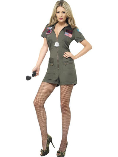 Top Gun Aviator Costume-Costumes - Women-Jokers Costume Hire and Sales Mega Store