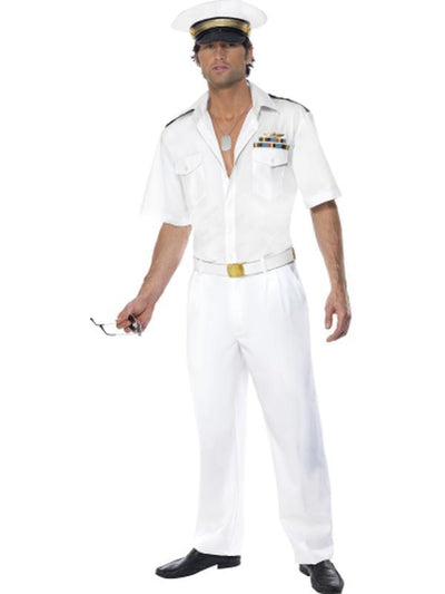 Top Gun Captain Costume-Costumes - Mens-Jokers Costume Hire and Sales Mega Store