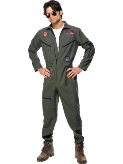 Top Gun Costume, Green-Costumes - Mens-Jokers Costume Hire and Sales Mega Store