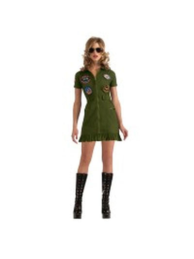 Top Gun Female Costume - Size L-Costumes - Women-Jokers Costume Hire and Sales Mega Store