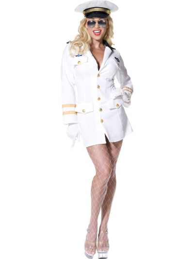 Top Gun Officer-Costumes - Women-Jokers Costume Hire and Sales Mega Store
