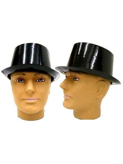 Top Hat - Black Plastic-Hats and Headwear-Jokers Costume Hire and Sales Mega Store