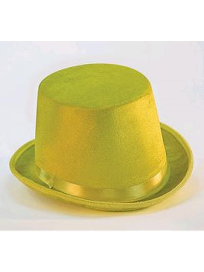 Top Hat Deluxe - Yellow-Hats and Headwear-Jokers Costume Hire and Sales Mega Store