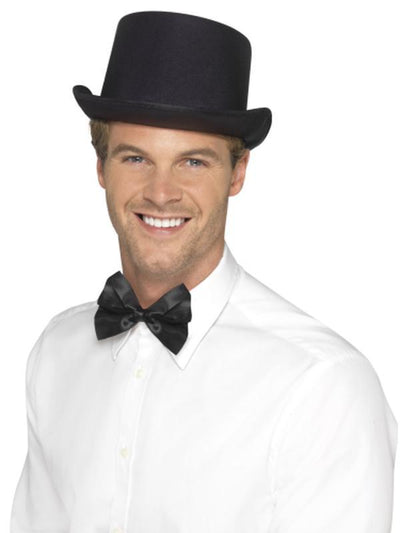 Top Hat - Satin Look-Hats and Headwear-Jokers Costume Hire and Sales Mega Store