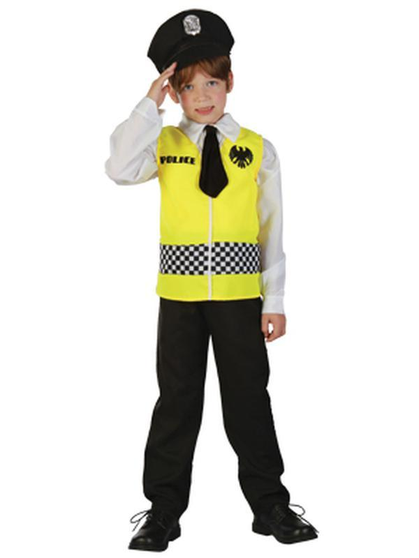 Traffic Police Boy - Child - Small***-Jokers Costume Mega Store