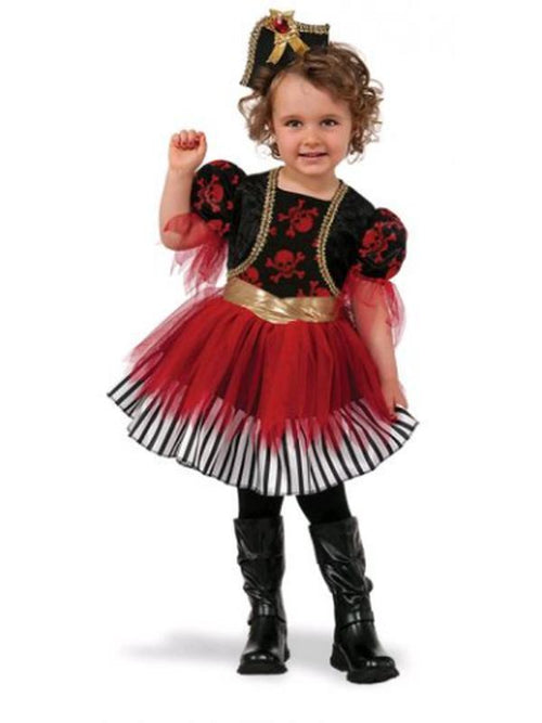 Treasure Island Pirate- Size 18-36Mths-Costumes - Girls-Jokers Costume Hire and Sales Mega Store