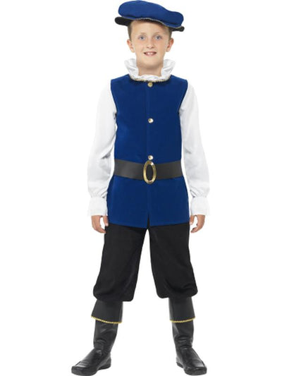 Tudor Boy Costume-Costumes - Boys-Jokers Costume Hire and Sales Mega Store
