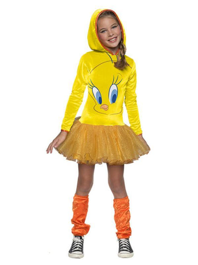 Tweety Girls Hooded Costume - Size L-Costumes - Girls-Jokers Costume Hire and Sales Mega Store