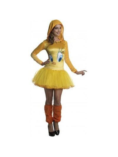 Tweety Hooded Tutu Dress - Size S-Costumes - Women-Jokers Costume Hire and Sales Mega Store