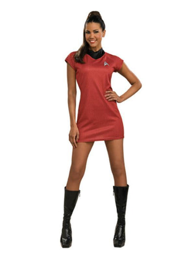 Uhura Star Trek Red Dress Costume - Size S-Costumes - Women-Jokers Costume Hire and Sales Mega Store