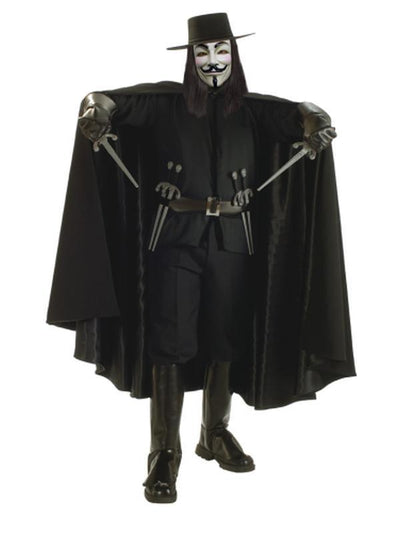 V For Vendetta Collector'S Edition - Size Xl-Costumes - Mens-Jokers Costume Hire and Sales Mega Store