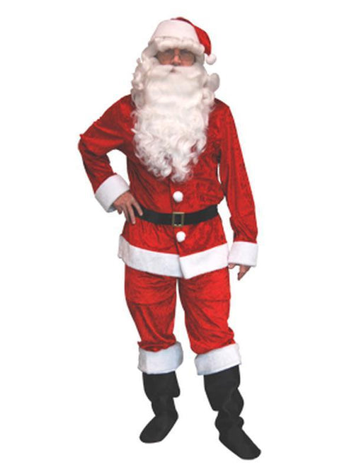 Velvet Santa - Adult - Large-Costumes - Mens-Jokers Costume Hire and Sales Mega Store