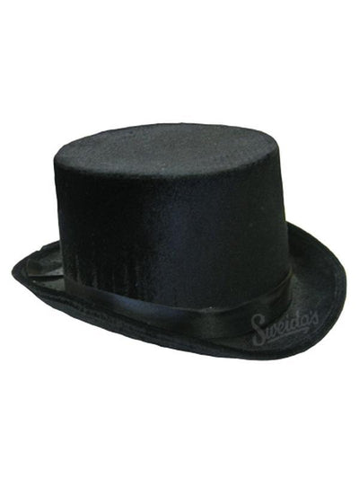Velvet Top Hat - Black-Hats and Headwear-Jokers Costume Mega Store