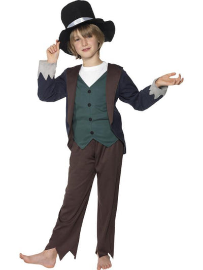Victorian Poor Boy Costume - Brown-Costumes - Boys-Jokers Costume Hire and Sales Mega Store