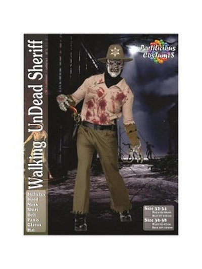 Walking Dead inspired Zombie Sheriff-Costumes - Mens-Jokers Costume Hire and Sales Mega Store